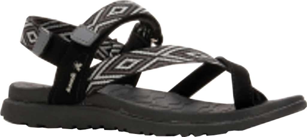 Women's Kamik Corfu Strappy Slingback Sandal, Black, large, image 1