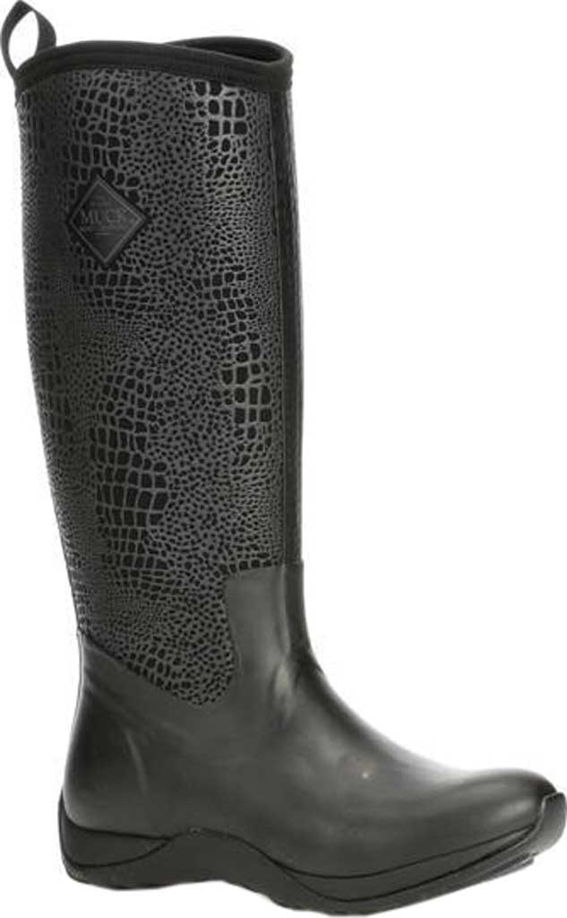 Women's Muck Boots Arctic Adventure Boot, Black/Croc Print, large, image 1
