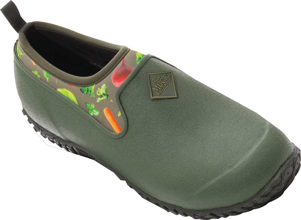 Women's Muck Boots Muckster II Low Slip-On, Green Veggie Print, large, image 1