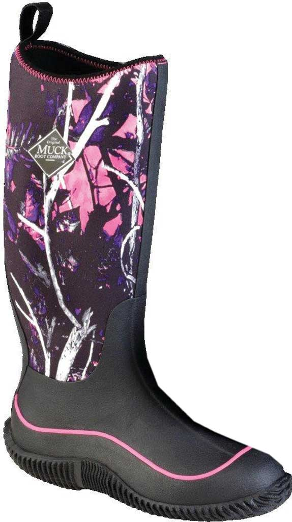 Women's Muck Boots Hale Knee High Boot, Black/Muddy Girl Camouflage, large, image 1
