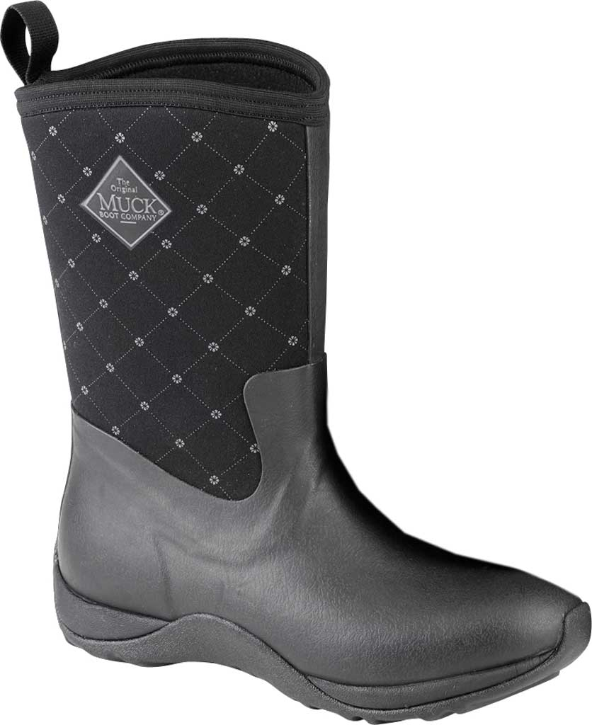 Women's Muck Boots Arctic Weekend Mid Calf Boot, Black Quilt, large, image 1