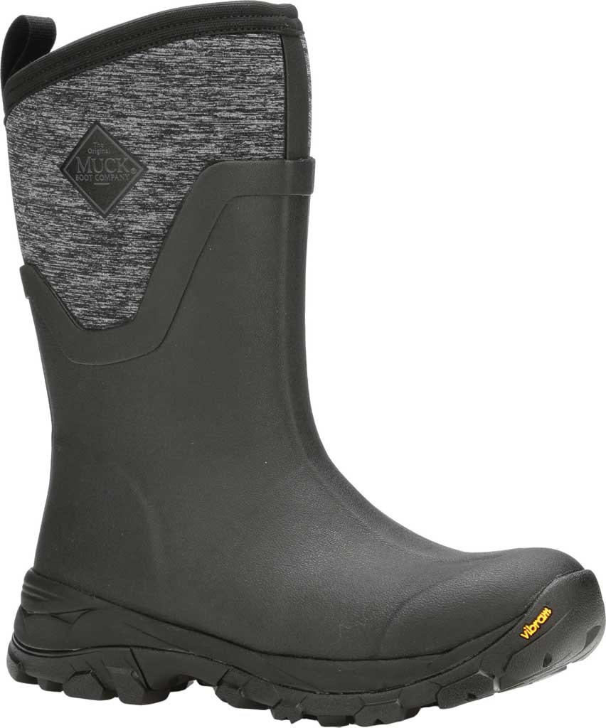 Women's Muck Boots Arctic Ice Mid AG Waterproof Boot, Black/Jersey Heather, large, image 1