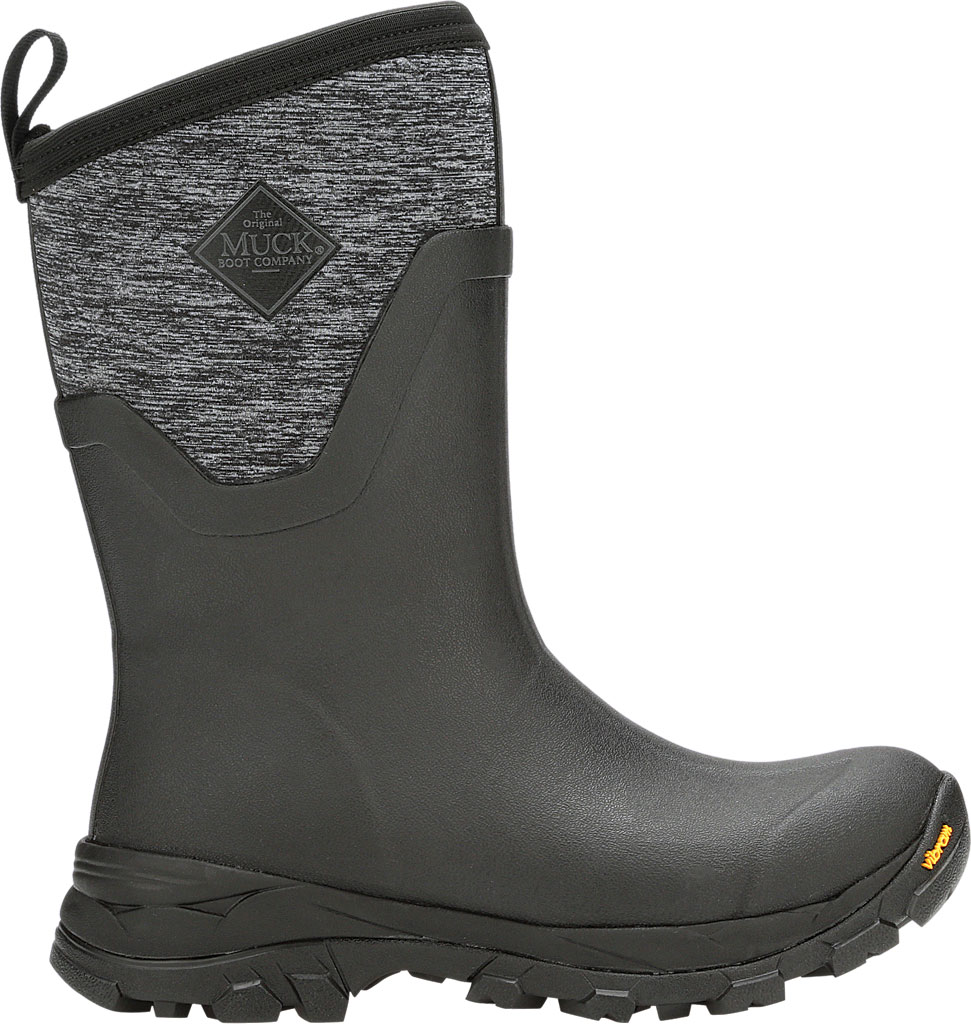 Women's Muck Boots Arctic Ice Mid AG Waterproof Boot, Black/Jersey Heather, large, image 2