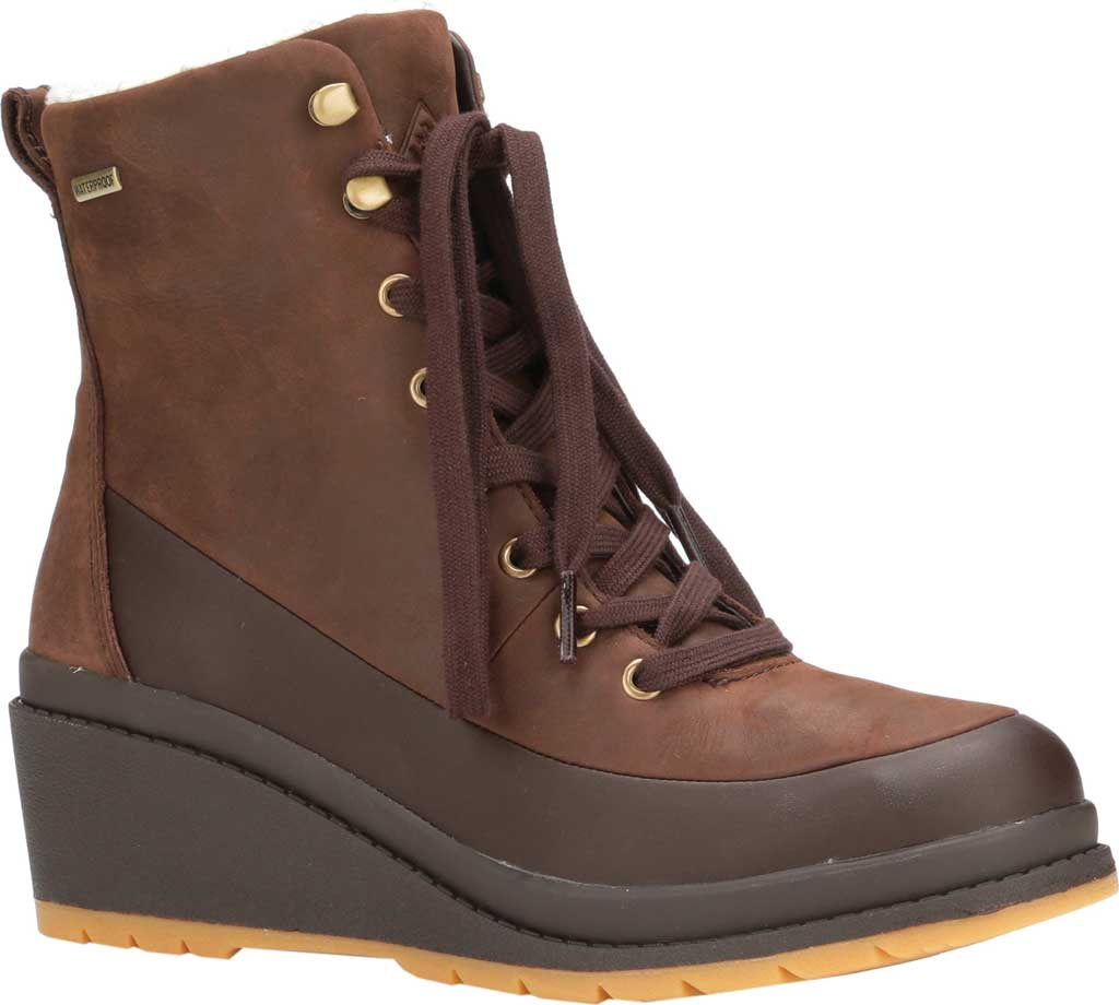 Women's Muck Boots Liberty Wedge Supreme Ankle Bootie, Brown, large, image 1