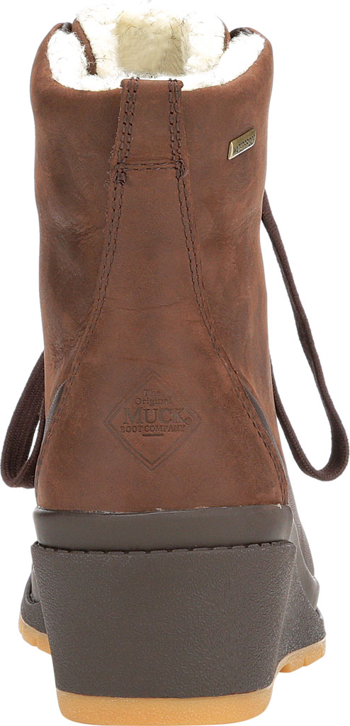 Women's Muck Boots Liberty Wedge Supreme Ankle Bootie, Brown, large, image 4