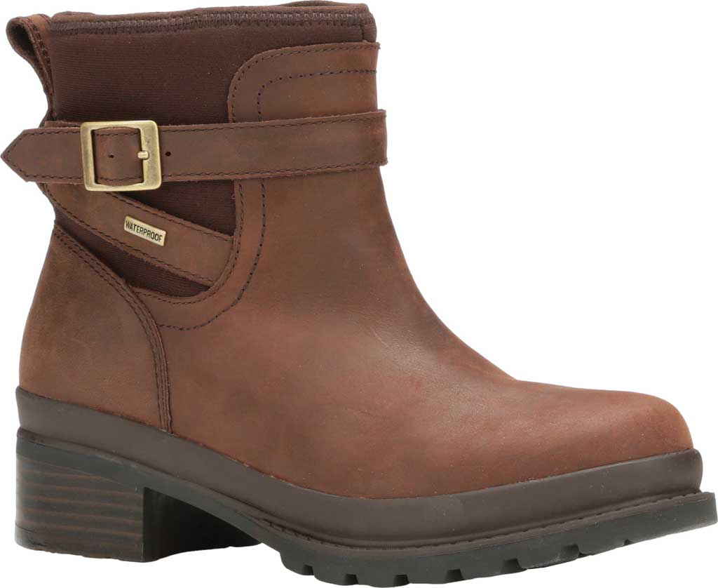 Women's Muck Boots Liberty Ankle Leather Boot, Brown, large, image 1
