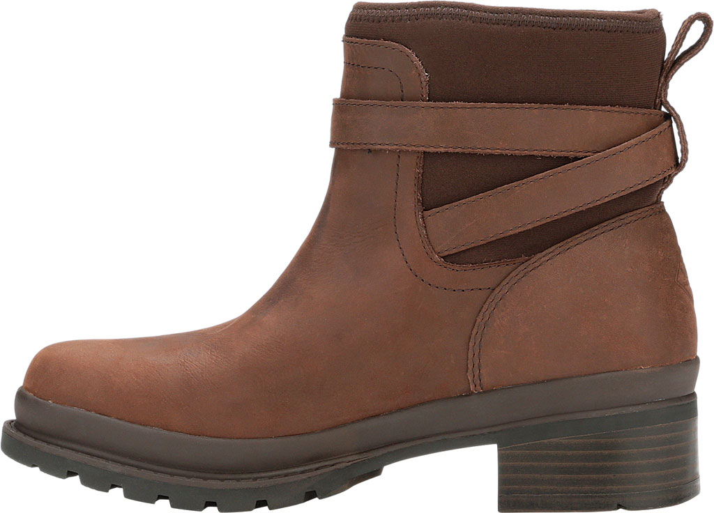 Women's Muck Boots Liberty Ankle Leather Boot, Brown, large, image 3