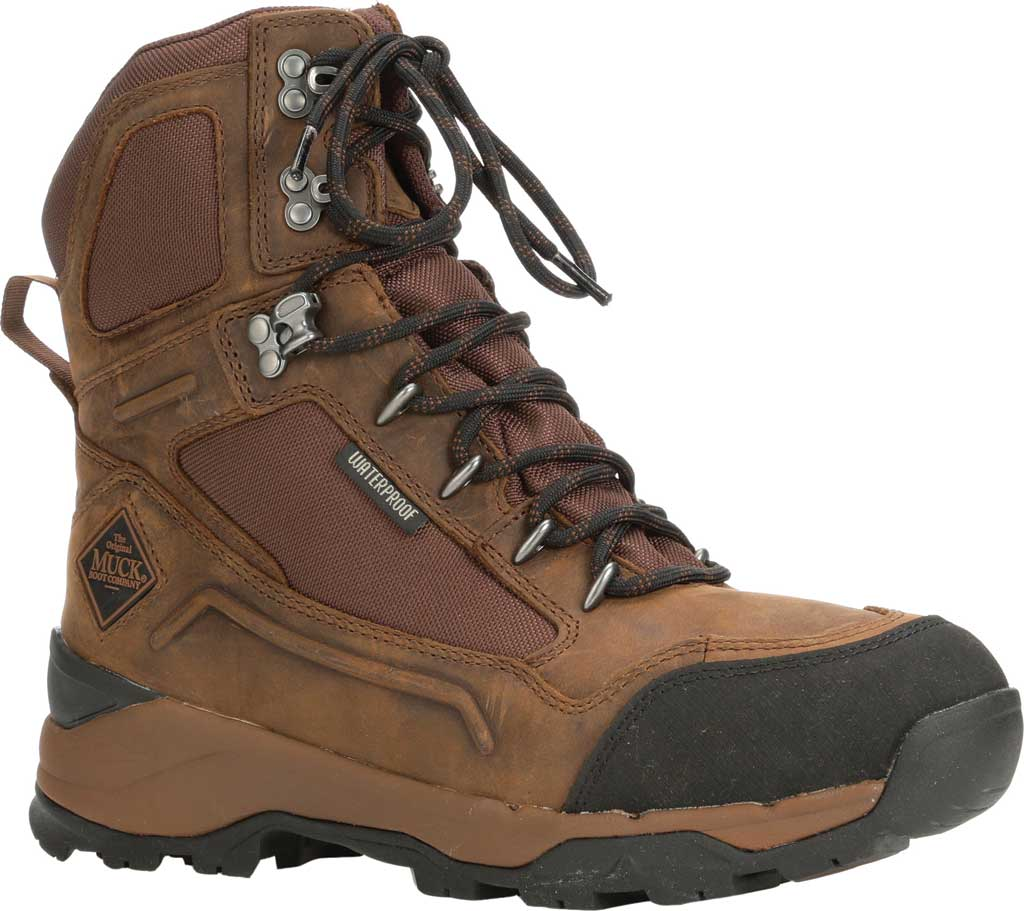 """Men's Muck Boots Summit Lace 8"""" Non-Insulated Boot, Brown/Black, large, image 1"""