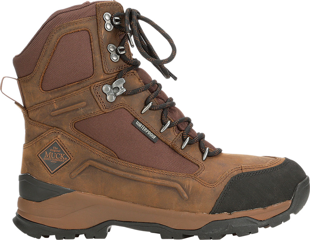 """Men's Muck Boots Summit Lace 8"""" Non-Insulated Boot, Brown/Black, large, image 2"""