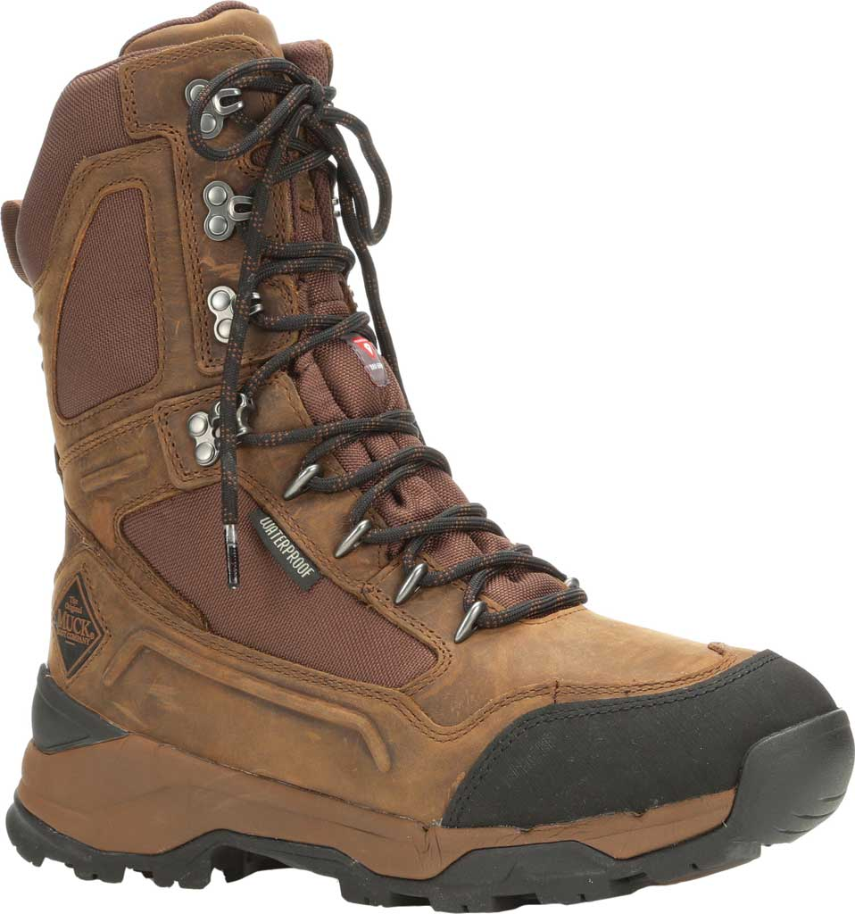 """Men's Muck Boots Summit Lace 10"""" Insulated Boot, Brown/Black, large, image 1"""