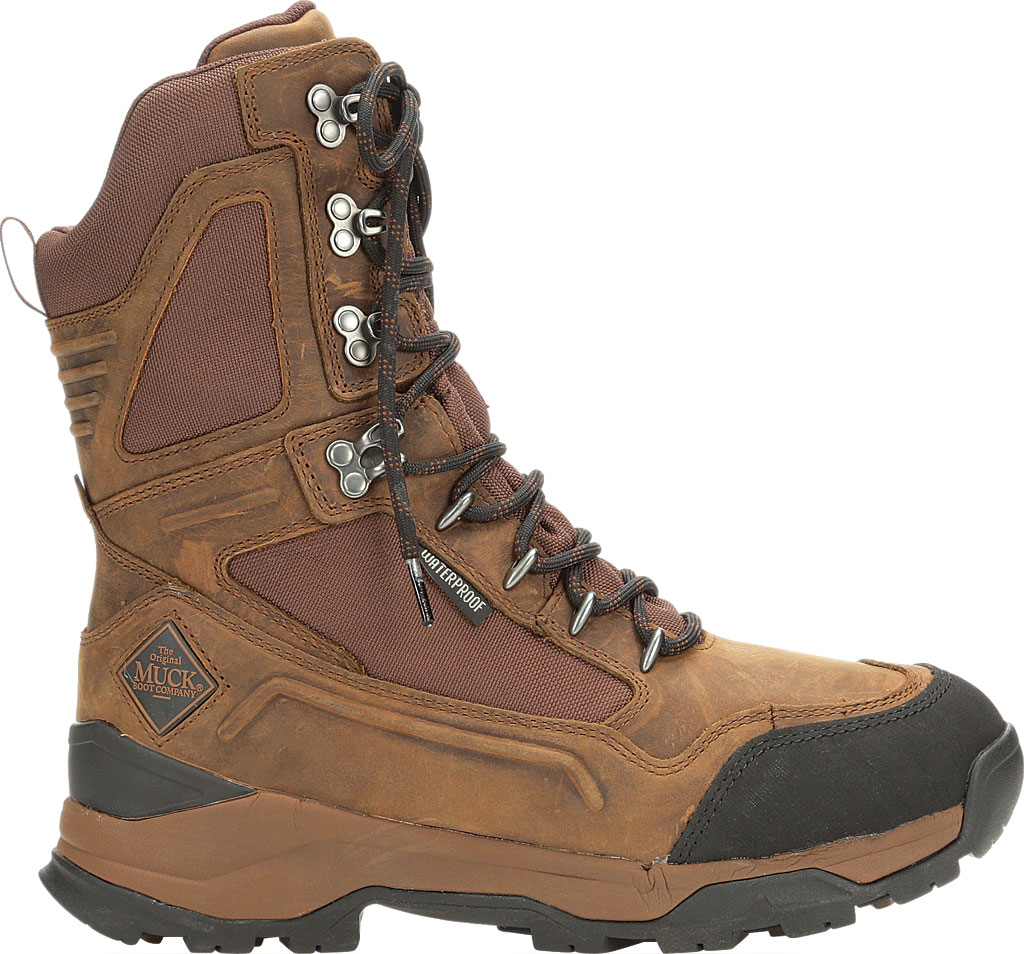 """Men's Muck Boots Summit Lace 10"""" Insulated Boot, Brown/Black, large, image 2"""