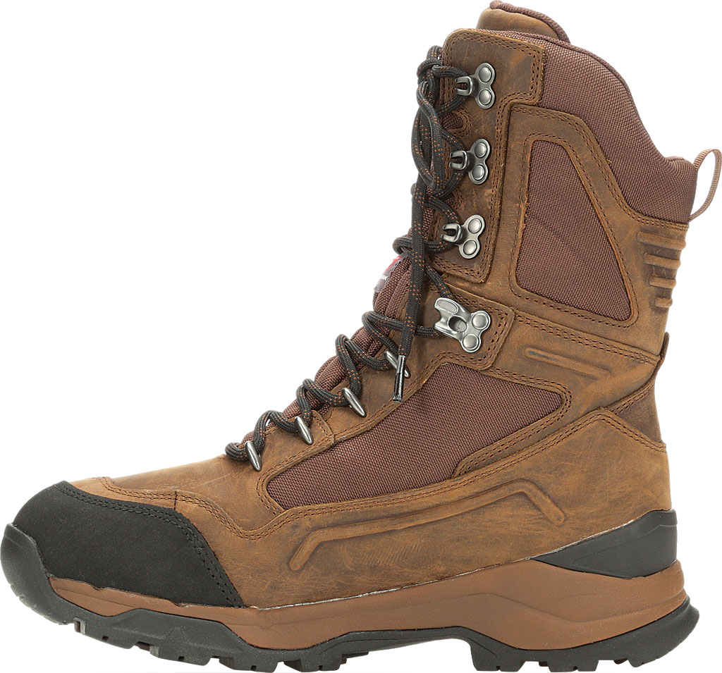 """Men's Muck Boots Summit Lace 10"""" Insulated Boot, Brown/Black, large, image 3"""