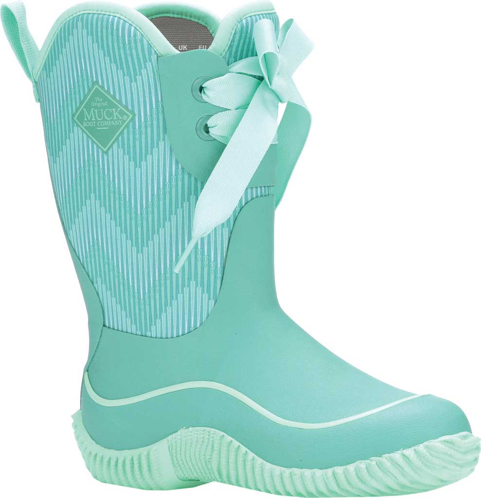 Children's Muck Boots Halo Mid Calf Boot, Blue/Chevron, large, image 1