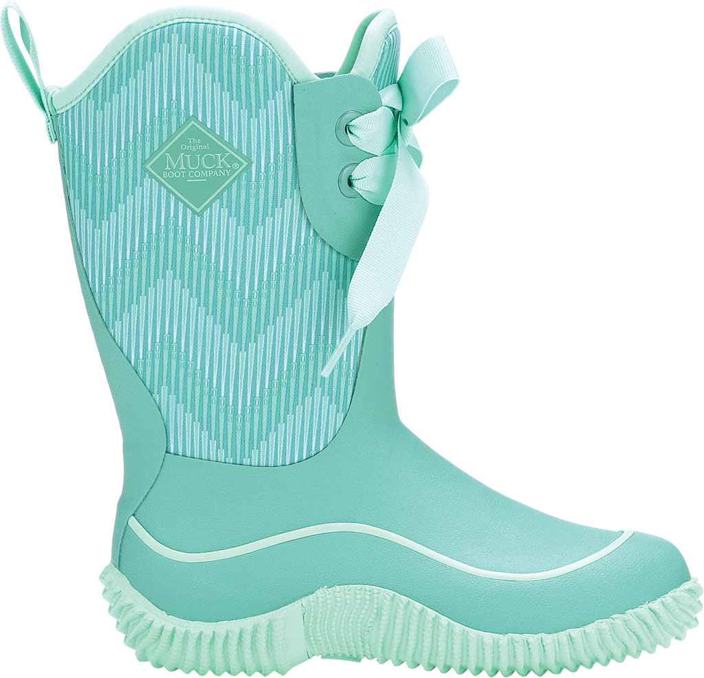 Children's Muck Boots Halo Mid Calf Boot, Blue/Chevron, large, image 2
