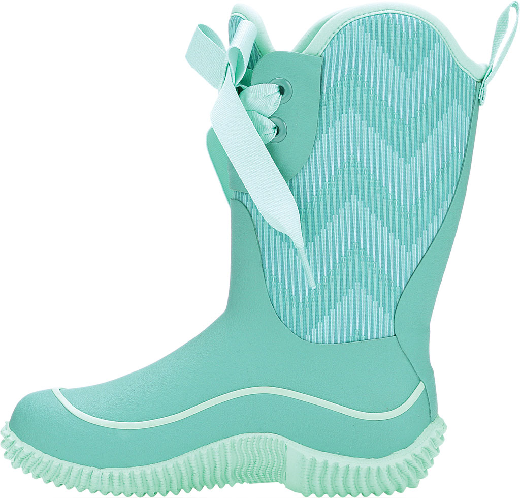 Children's Muck Boots Halo Mid Calf Boot, Blue/Chevron, large, image 3