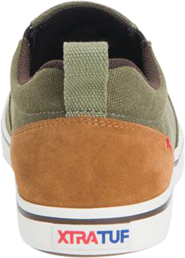 Men's XTRATUF Sharkbyte Canvas Deck Shoe, Green Stone Wash Canvas, large, image 4