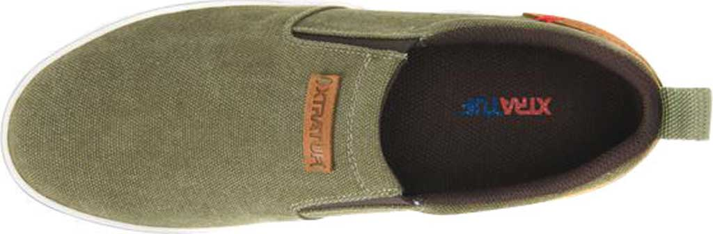 Men's XTRATUF Sharkbyte Canvas Deck Shoe, Green Stone Wash Canvas, large, image 5