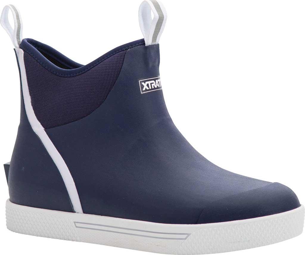 "Men's XTRATUF 6"" Wheelhouse Ankle Deck Boot, Navy Waterproof Rubber, large, image 1"