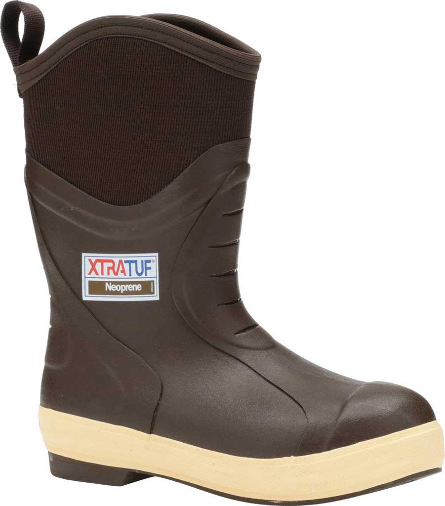 "Men's XTRATUF 12"" Elite Plain Toe Insulated Fishing Boot, Copper/Tan Neoprene/Spandura Nylon, large, image 1"