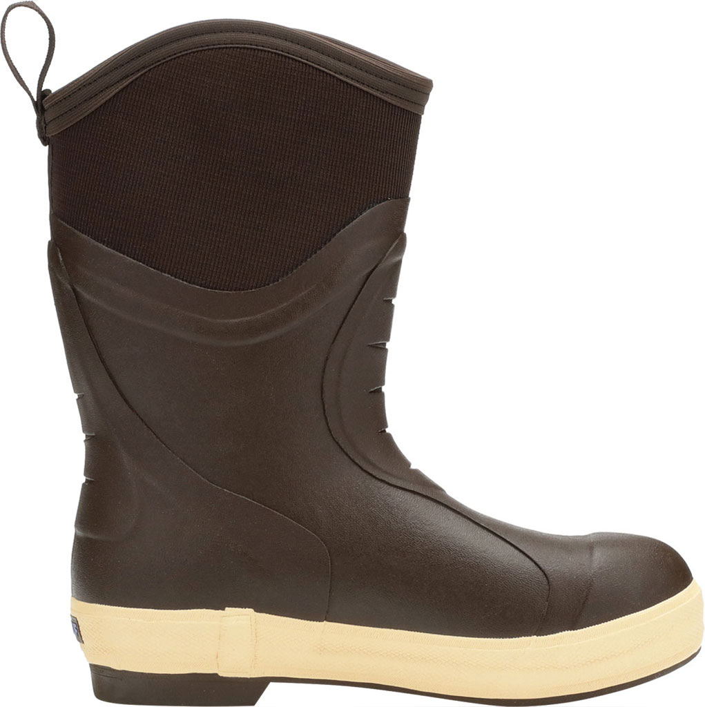 "Men's XTRATUF 12"" Elite Plain Toe Insulated Fishing Boot, Copper/Tan Neoprene/Spandura Nylon, large, image 2"