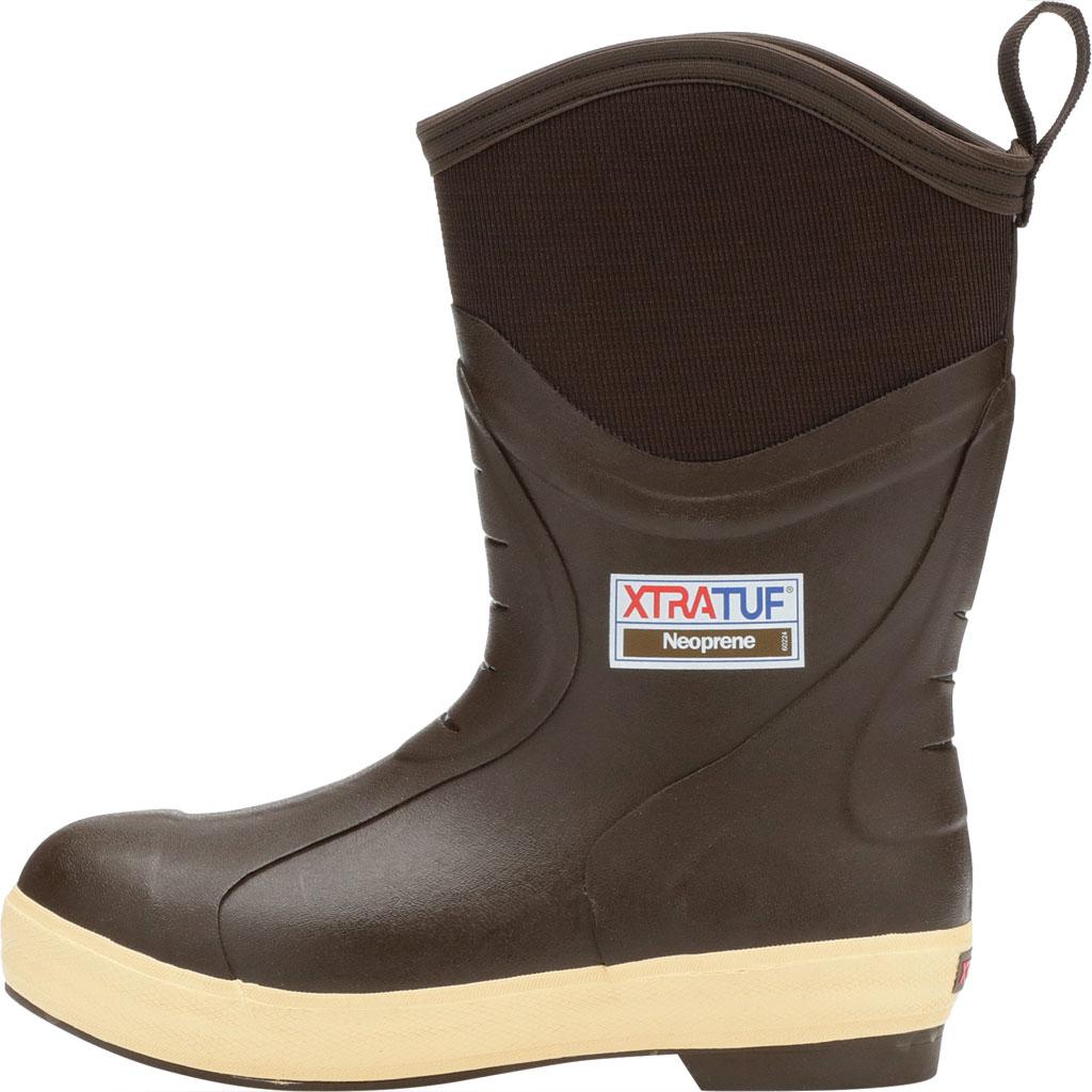 "Men's XTRATUF 12"" Elite Plain Toe Insulated Fishing Boot, Copper/Tan Neoprene/Spandura Nylon, large, image 3"