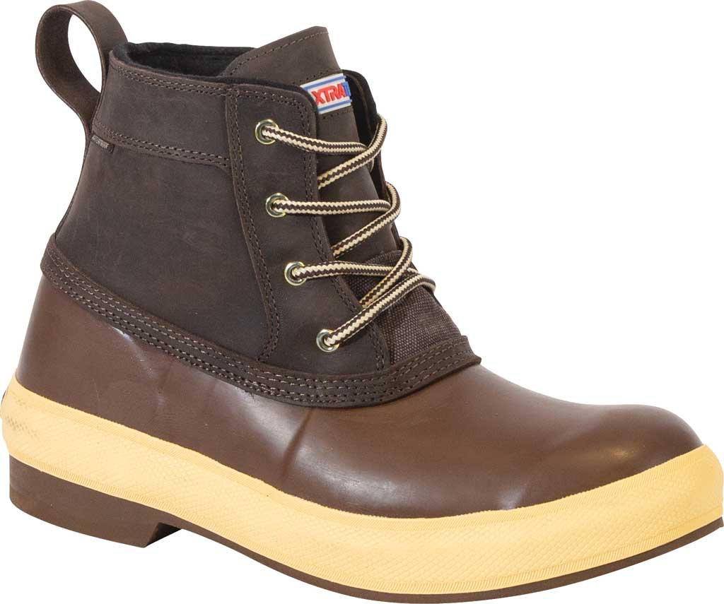 """Men's XTRATUF 6"""" Legacy Lace Insulated Boot, Brown Waterproof Full Grain Leather/Neoprene, large, image 1"""