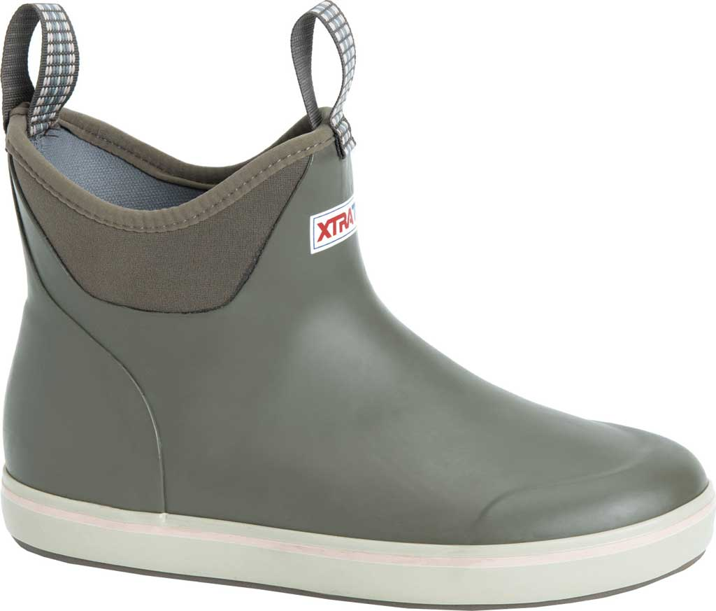 """Women's XTRATUF 6"""" Ankle Deck Boot, Taupe Waterproof Rubber, large, image 1"""