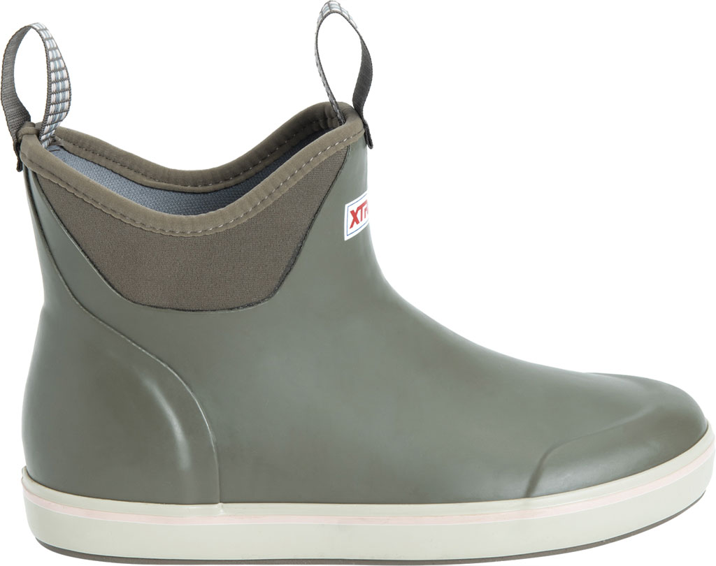 """Women's XTRATUF 6"""" Ankle Deck Boot, Taupe Waterproof Rubber, large, image 2"""