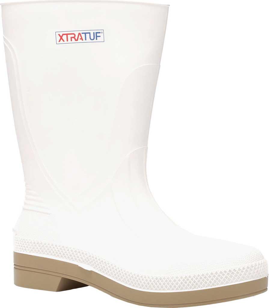 "Men's XTRATUF 11"" Shrimp Boot, White PVC, large, image 1"