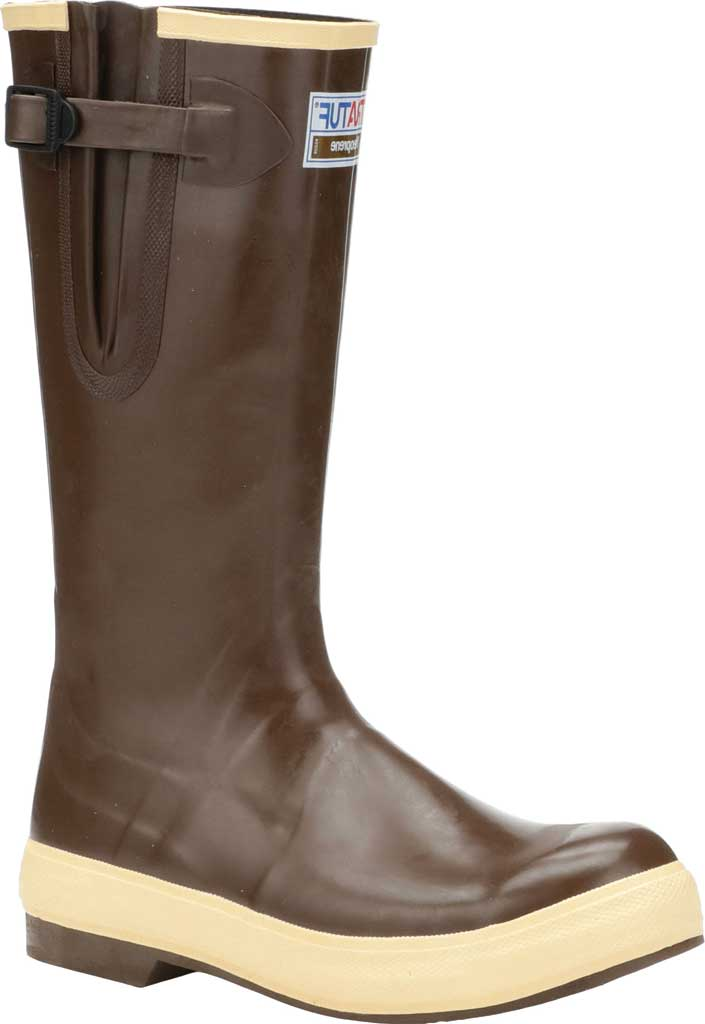 "Men's XTRATUF 15"" Legacy Gusset Wide Calf Boot, Copper/Tan Latex/Neoprene, large, image 1"