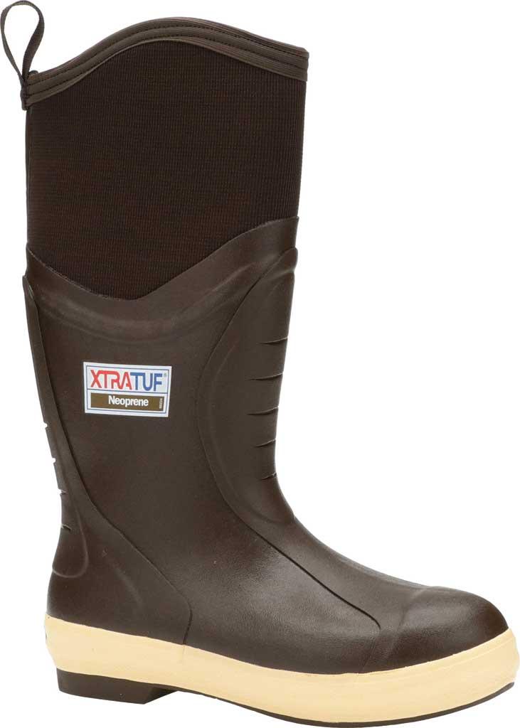 "Men's XTRATUF 15"" Elite Plain Toe Insulated Fishing Boot, Copper/Tan Neoprene/Spandura Nylon, large, image 1"
