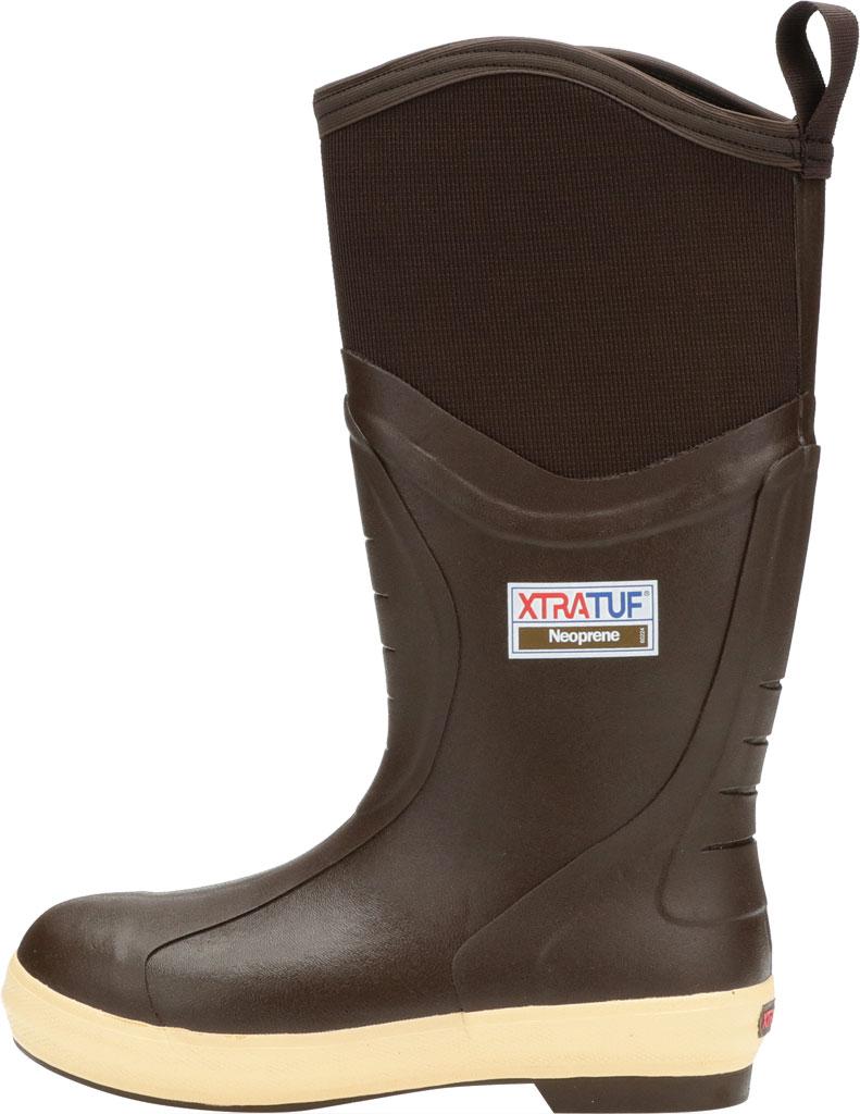 "Men's XTRATUF 15"" Elite Plain Toe Insulated Fishing Boot, Copper/Tan Neoprene/Spandura Nylon, large, image 3"