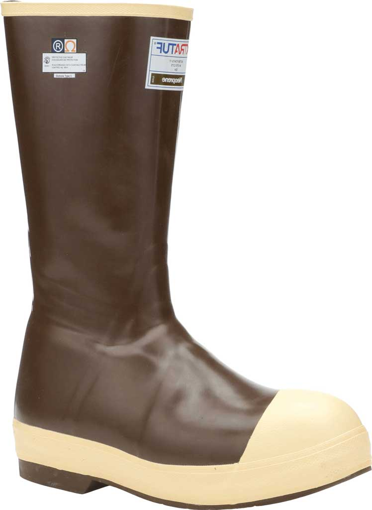 "Men's XTRATUF 15"" Legacy Insulated Steel Toe Fishing Boot, Copper/Tan Latex/Neoprene, large, image 1"