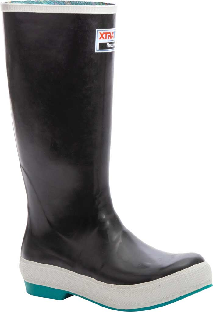 "Women's XTRATUF 15"" Fishe Wear Legacy Boot, Black/Groovy Greyling Latex/Neoprene, large, image 1"