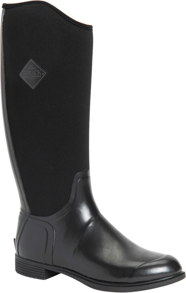 Women's Muck Boots Derby Tall Riding Boot, Black, large, image 1