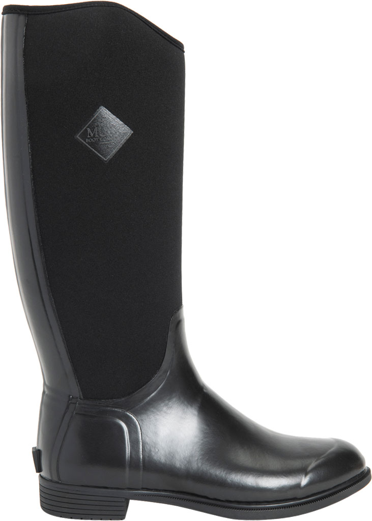 Women's Muck Boots Derby Tall Riding Boot, Black, large, image 2