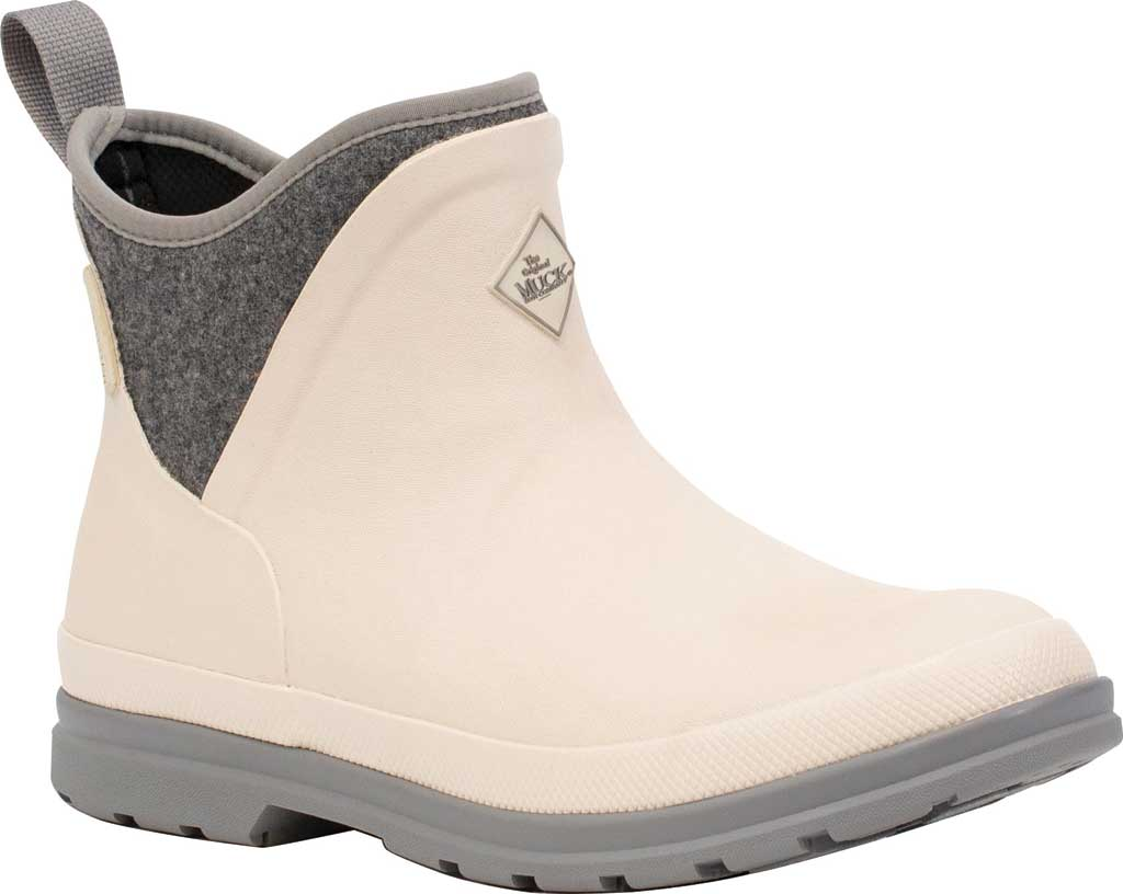 Women's Muck Boots Muck Originals Ankle Waterproof Boot, White/Grey Wool, large, image 1