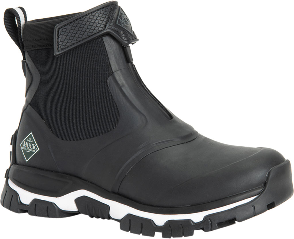 Women's Muck Boots Apex Mid Zip Hunting Boot, Black/White, large, image 1