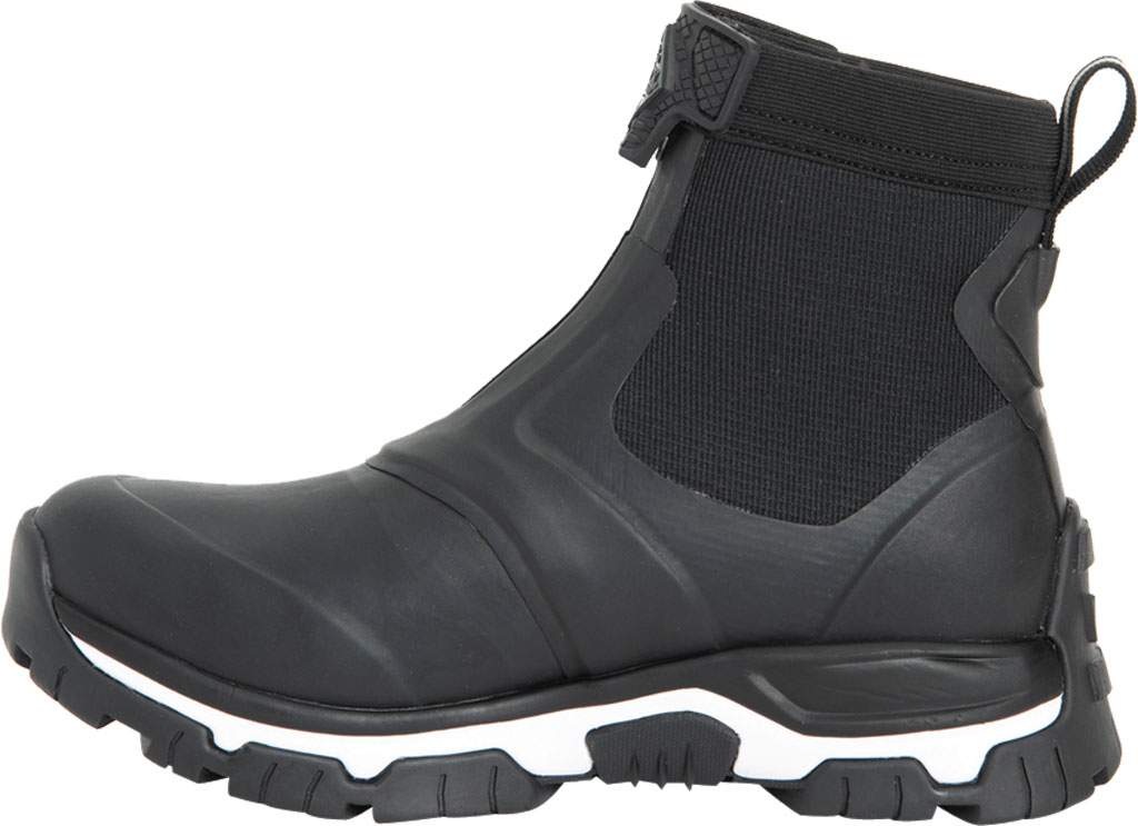 Women's Muck Boots Apex Mid Zip Hunting Boot, Black/White, large, image 3