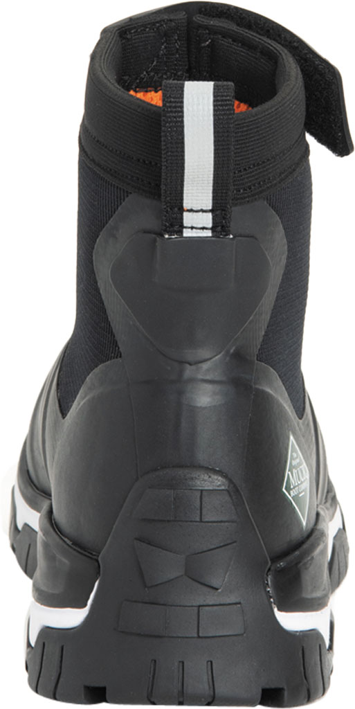 Women's Muck Boots Apex Mid Zip Hunting Boot, Black/White, large, image 4