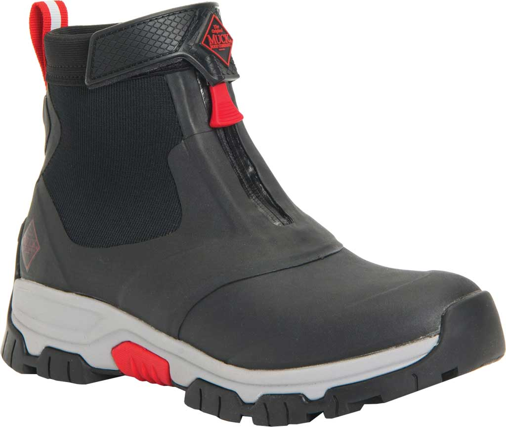 Men's Muck Boots Apex Mid Zip Hunting Boot, Black/Light Grey, large, image 1