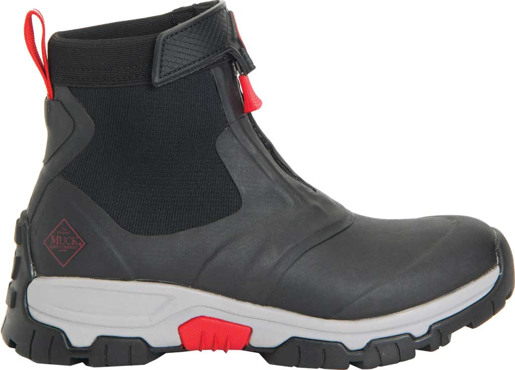 Men's Muck Boots Apex Mid Zip Hunting Boot, Black/Light Grey, large, image 2