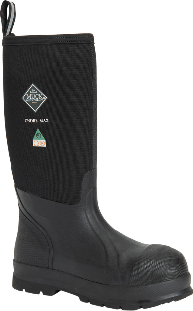 Men's Muck Boots Chore Max Tall CSA Spandura Composite Toe Boot, Black, large, image 1