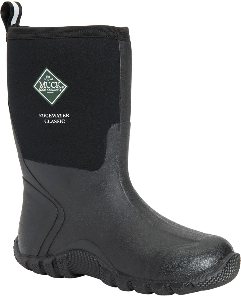 Men's Muck Boots Edgewater Classic Mid Hunting Boot, Black, large, image 1