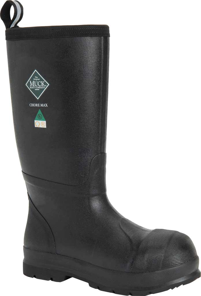 Men's Muck Boots Chore Max Resistant Tall CSA Composite Toe Boot, Black, large, image 1