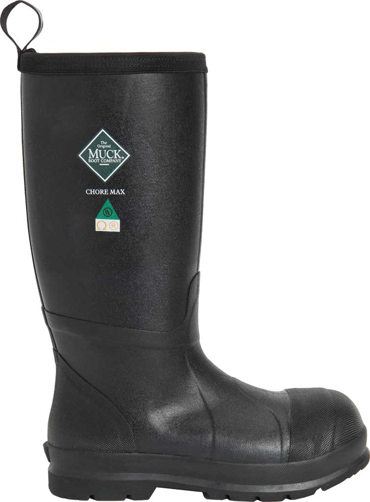 Men's Muck Boots Chore Max Resistant Tall CSA Composite Toe Boot, Black, large, image 2