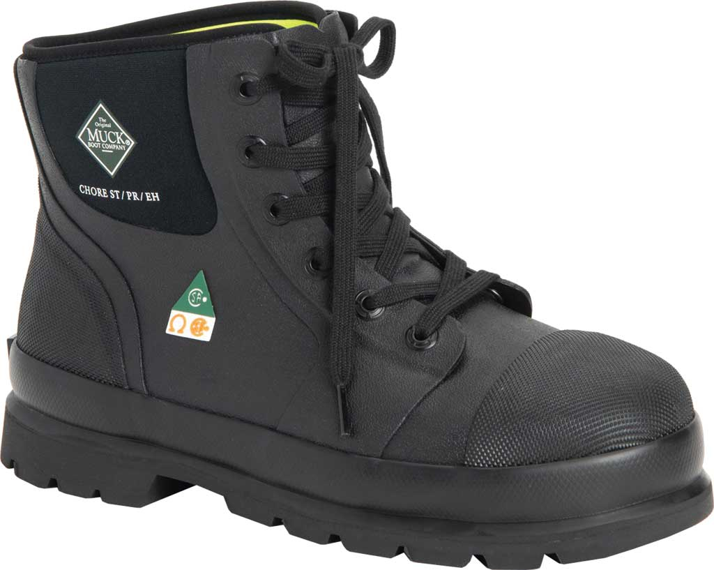 "Men's Muck Boots Chore Classic 6"" CSA Steel Toe Boot, Black, large, image 1"