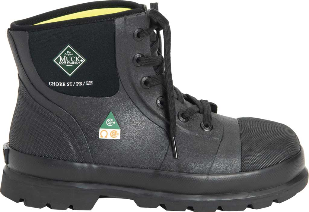 "Men's Muck Boots Chore Classic 6"" CSA Steel Toe Boot, Black, large, image 2"