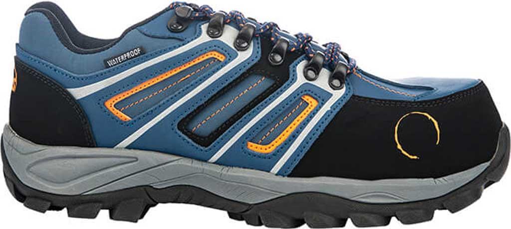 Men's Hoss Boots Tahoe Low Composite Toe Hiking Shoe, Navy/Orange Action Nubuck, large, image 1