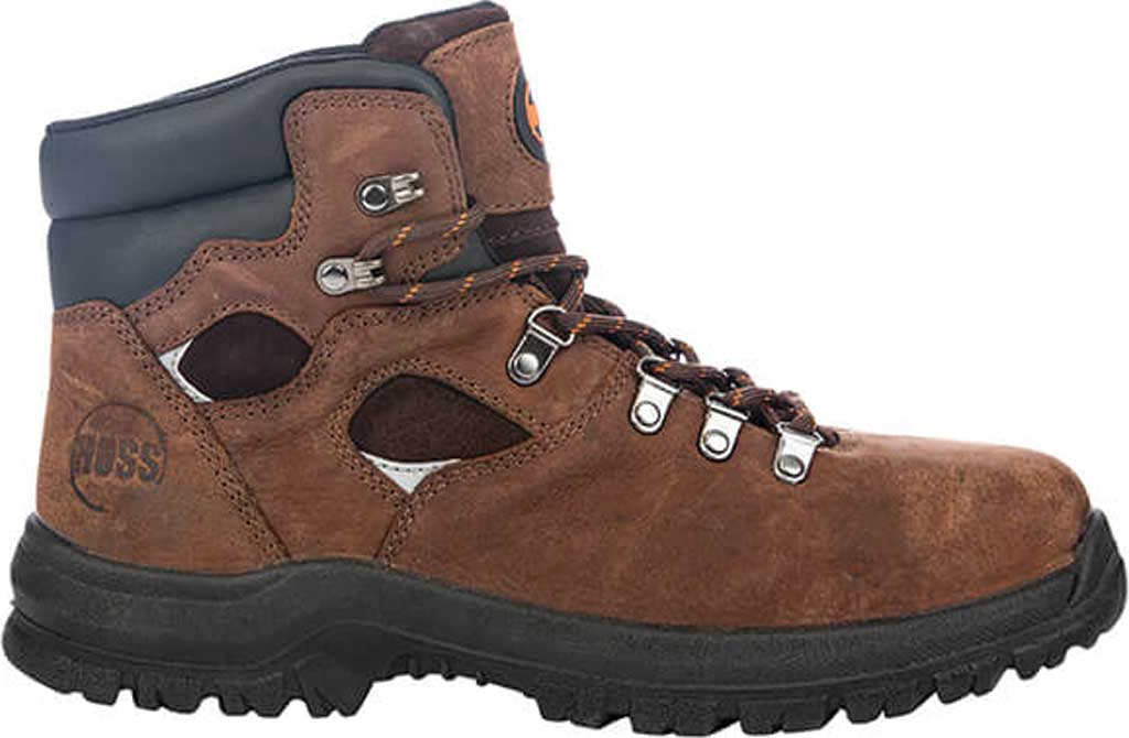 "Men's Hoss Boots Adam 6"" Steel Toe Work Boot, Brown Full Grain Tumbled Success Leather, large, image 2"